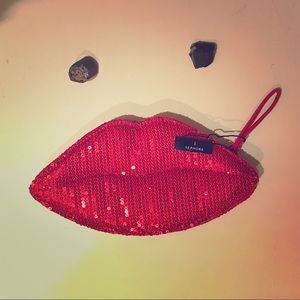 Brand New Sephora Red Lip Coin Purse